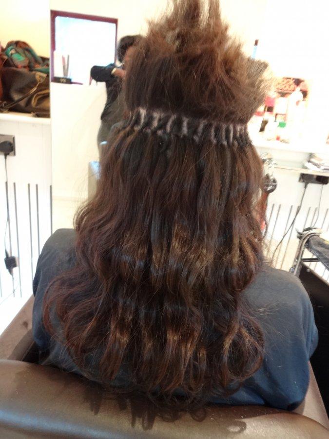 BRAZILIAN KNOT HAIR EXTENSIONS IN PROGRESS | KK Hair ...